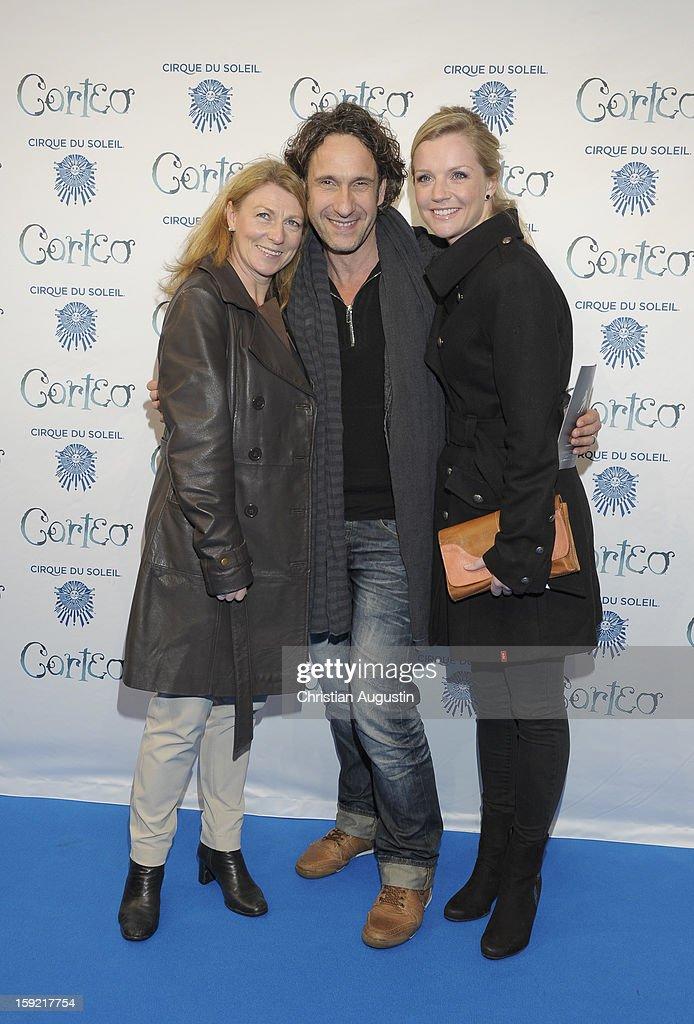 Christine Wilhelmi, Falk-Willy Wild and Kim-Sarah Brandts attend Corteo Cirque De Soleil' Premiere on January 9, 2013 in Hamburg, Germany.