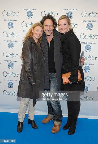 Christine Wilhelmi FalkWilly Wild and KimSarah Brandts attend Corteo Cirque De Soleil' Premiere on January 9 2013 in Hamburg Germany