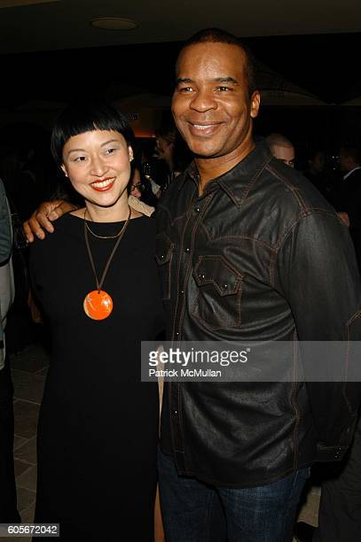 Christine Y Kim and David Alan Grier attend Narciso Rodriguez Fall 06 After Party at Del Posto on February 7 2006 in New York
