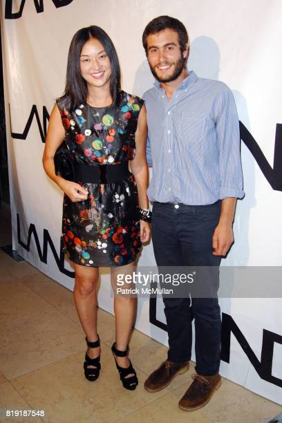 Christine Y Kim and Kevin Gruenberg attend The First Annual Benefit Hosted By Los Angeles Nomadic Division at the Sunset Tower Hotel on July 15 2010...