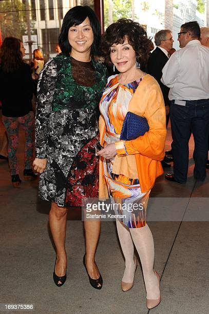 Christine Y Kim and Lynda Resnick attend LACMA Celebrates Opening Of James Turrell A Retrospective at LACMA on May 22 2013 in Los Angeles California