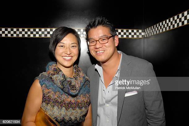 Christine Y Kim and Peter Som attend Audree Putnam Celebrates the ReImagined Morgans Hotel on September 10 2008 in New York City