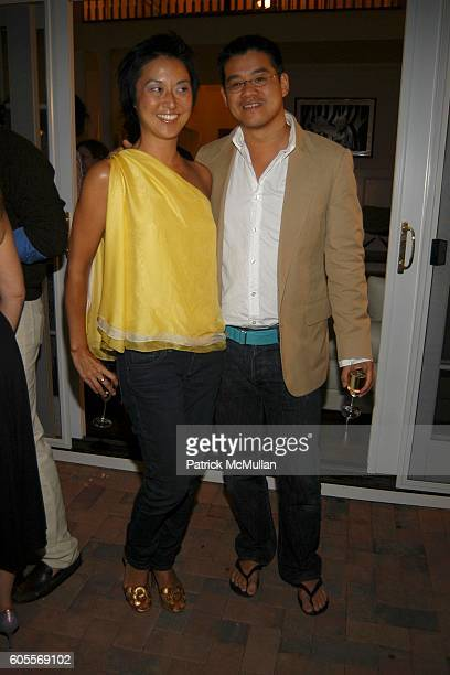Christine Y Kim and Peter Som attend Bettina Zilkha Lucy and Euan Rellie Kick Off the Summer Dinner at Cain Estate on May 26 2006 in Southampton NY