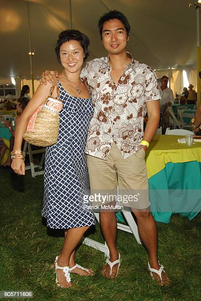 Christine Y Kim and Rafe Totengco attend SUPER SATURDAY 9 hosted by Kelly Ripa Donna Karan and InStyle Magazine To Benefit The Ovarian Cancer...