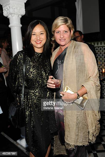 Christine Y Kim and Sarah Watson attend LAXART UNGALA Presented By Phillips on May 19 2014 in Los Angeles California