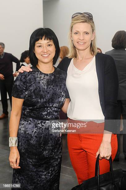 Christine Y Kim and Viveca PaulinFerrell attend LACMA's 2013 Collectors Committee Viewing Of Proposed Acquisitions And Curatorial Presentations at...