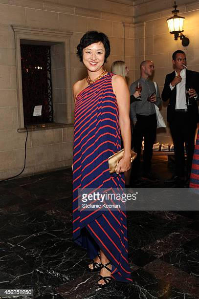 Christine Y Kim attends LAXART at Greystone Mansion on September 27 2014 in Beverly Hills California