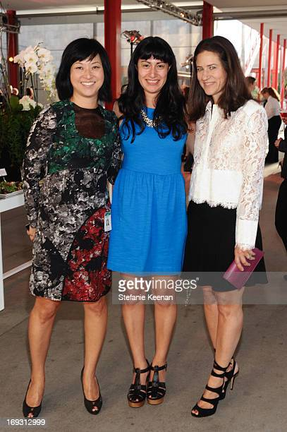 Christine Y Kim Nancy Meyer and Katherine Ross attend LACMA Celebrates Opening Of James Turrell A Retrospective at LACMA on May 22 2013 in Los...