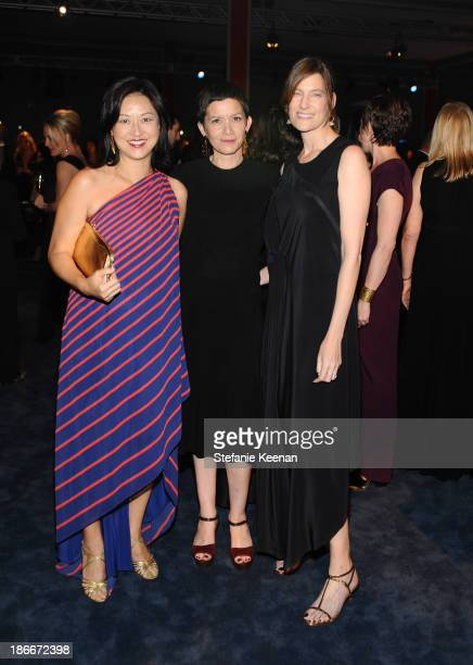 Christine Y Kim Rita Gonzalez and Erin Wright attend the LACMA 2013 Art Film Gala honoring Martin Scorsese and David Hockney presented by Gucci at...