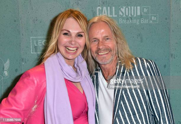 Christine Zierl and Dan Lucas attend the grand opening of the boutique Muenchen Mitte on April 8 2019 in Munich Germany