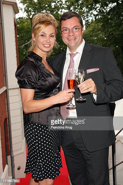 Christine Zierl and friend Guido Eschholz at the Media Night On The Siillberg In Hamburg On 290808