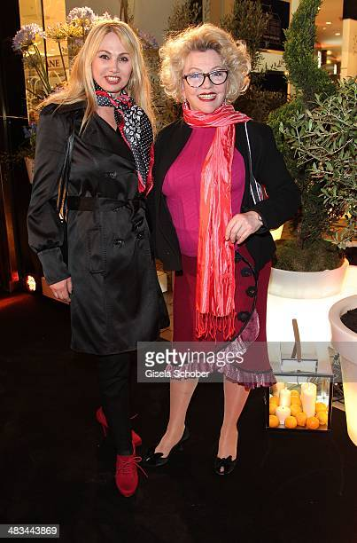 Christine Zierl and Veronica von Quast attend the 'Studio Italia La Perfezione del Gusto' grand opening at Oberpollinger on April 8 2014 in Munich...