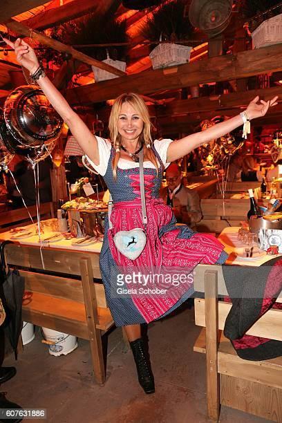 Christine Zierl, Dolly Dollar, during the 'Almauftrieb' as part of the Oktoberfest 2016 at Kaeferschaenke beer tent on September 18, 2016 in Munich,...