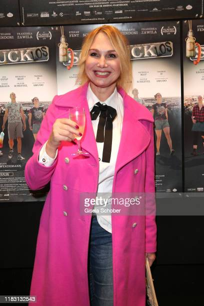 """Christine Zierl during the premiere of the film """"Schmucklos"""" at Rio Filmpalast on November 17, 2019 in Munich, Germany."""