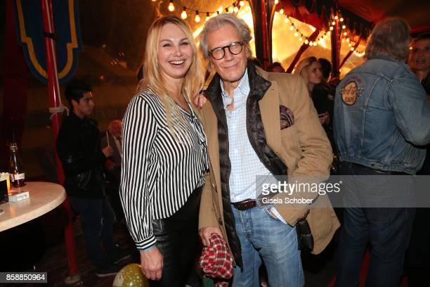 Christine Zierl former Dolly Dollar and Bernd Herzsprung during the premiere of the Circus Roncalli '40 Jahre Reise zum Regenbogen' on October 7 2017...