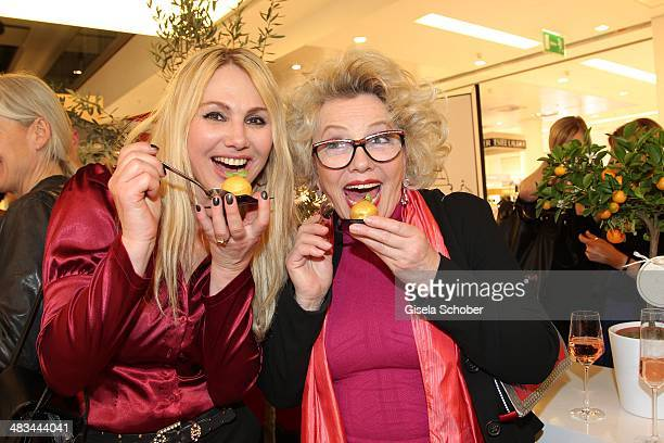 Christine Zierl Veronica von Quast attend the 'Studio Italia La Perfezione del Gusto' grand opening at Oberpollinger on April 8 2014 in Munich Germany