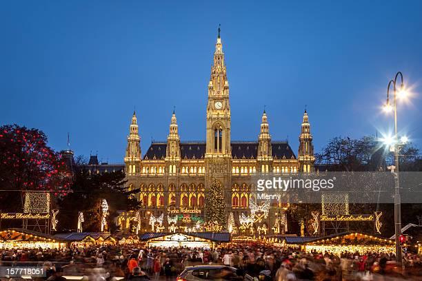 ウィーン Christkindlmarkt 新しい Townhall クリスマスマーケットオーストリア)