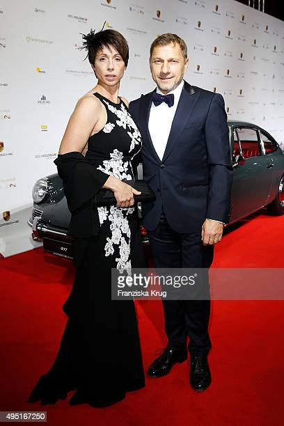 Christl Stumhofer and Richy Mller attend the Leipzig Opera Ball 2015 on October 31 2015 in Leipzig Germany