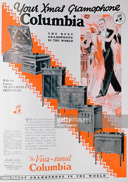 Christmas advert for Columbia Gramophones 1929 A print from The Graphic Christmas number 1929
