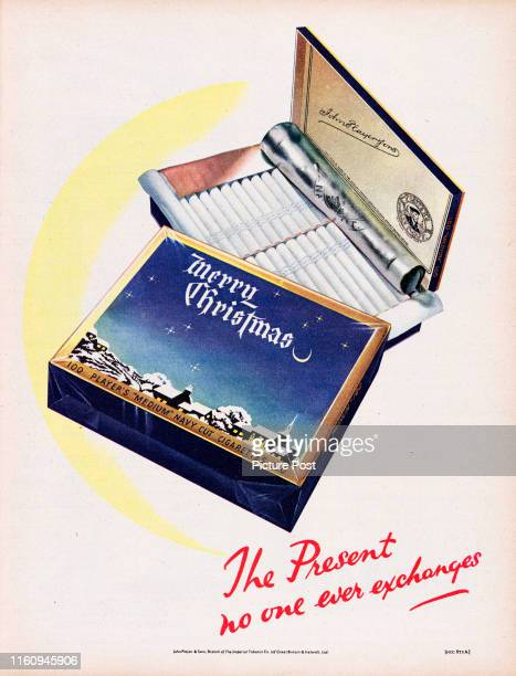 Christmas advertisement for Player's Medium Navy Cut Cigarettes with the caption 'The present no one ever exchanges' Original Publication Picture...