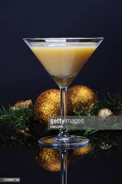 Christmas Advocaat Egg Liqueur Cocktail Glass