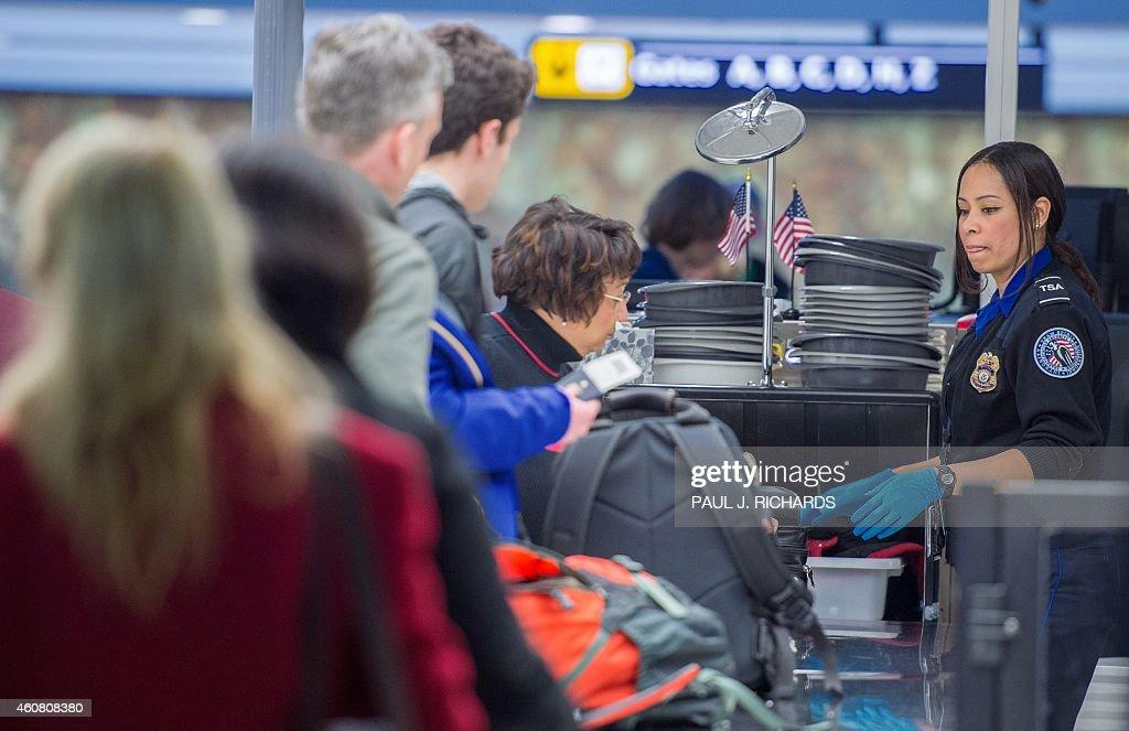 US-CHRISTMAS-AIR-TRAVEL : News Photo