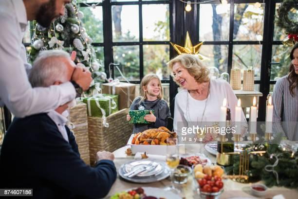 Weihnachten immer vereint die Familie