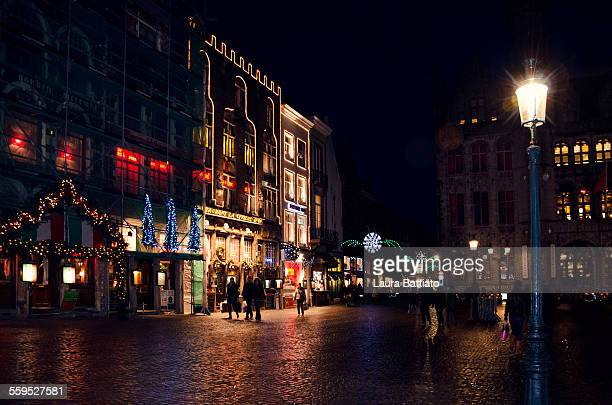 christmas ambiance in bruges - bruges stock pictures, royalty-free photos & images