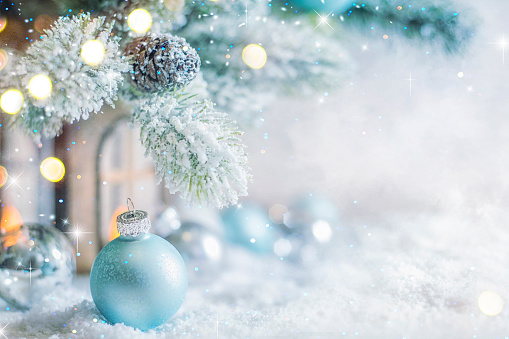 2019. Christmas and New Years holiday background 1070604394