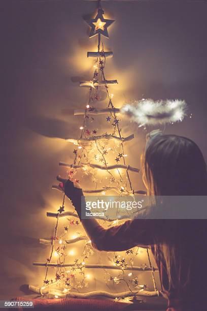 christmas angel - christkind stock-fotos und bilder