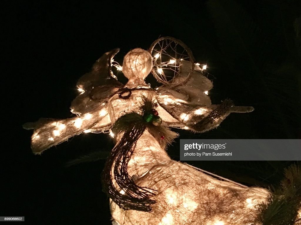 christmas angel yard decoration stock photo