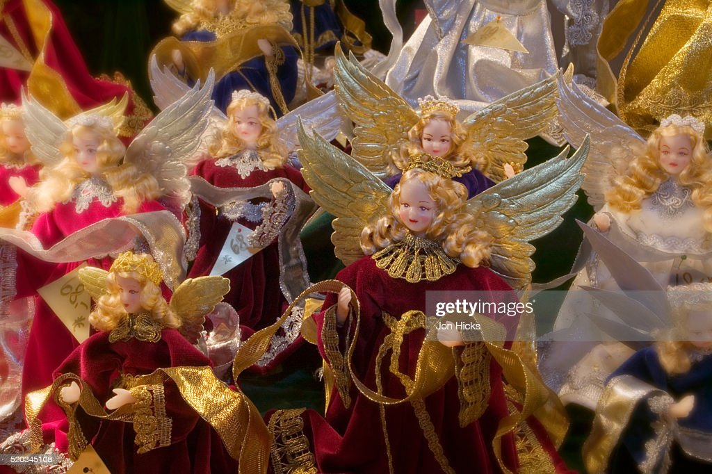 christmas angels on sale at munich christmas market stock photo - Christmas Angels For Sale
