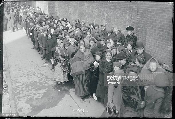 Christmas at 69th regiment armory Mothers and children waiting outside