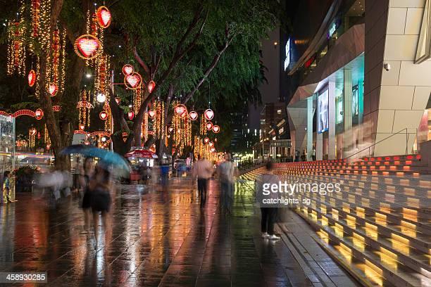navidad en singapur - orchard road fotografías e imágenes de stock