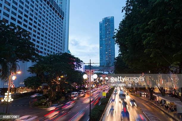 christmas at singapore - orchard road stock pictures, royalty-free photos & images