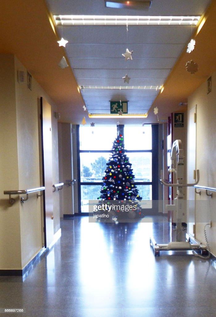 Christmas at the hospital : Stock Photo