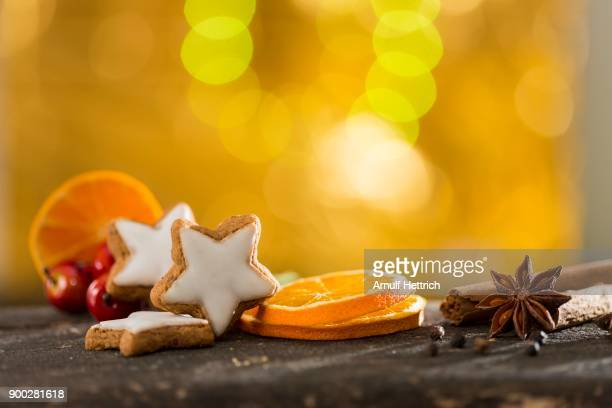 Christmas baking, Christmas decoration, cinnamon cookie, oranges, Germany