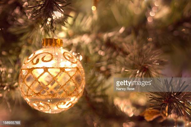 Christmas ball, glass with gold