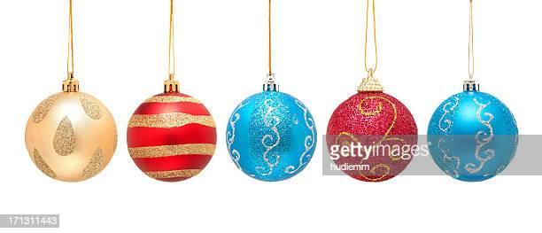 Christmas ball isoliert auf weißem Hintergrund