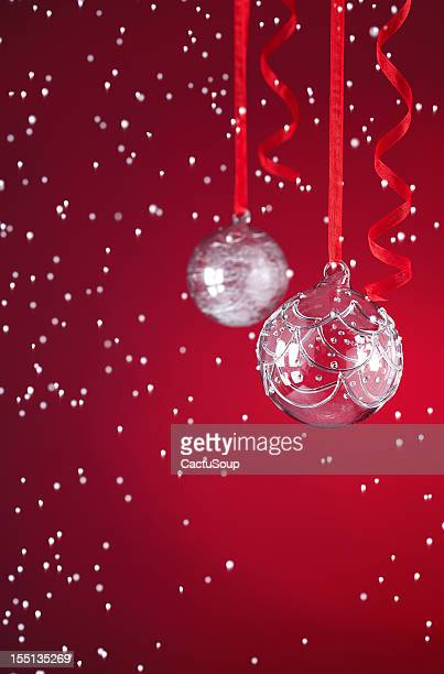 christmas ball - balls deep stock photos and pictures