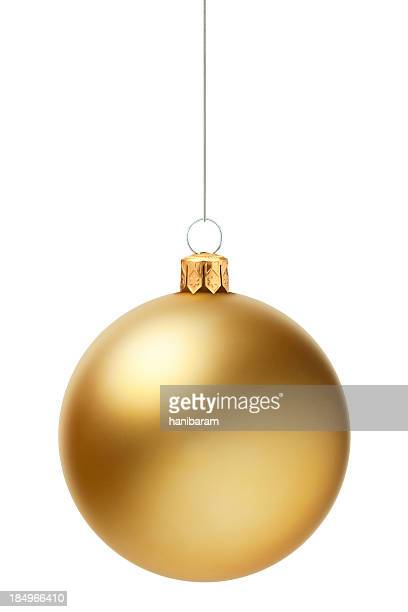 christmas ball - gold colored stock photos and pictures