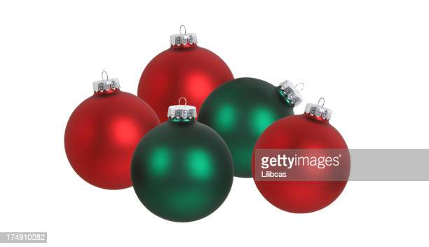 Christmas Ball Series (isolated on white)