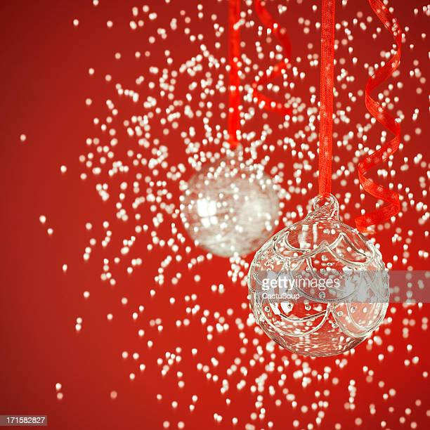 christmas balls - balls deep stock photos and pictures