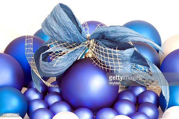 christmas balls #7 - blue balls pics stock pictures, royalty-free photos & images