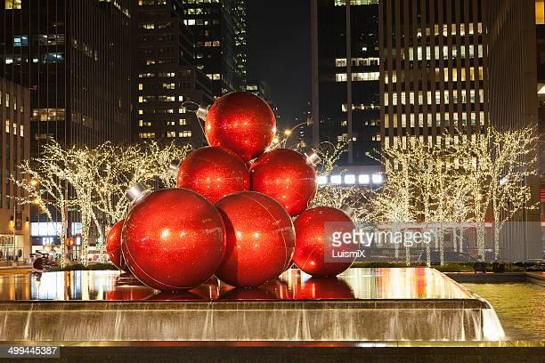 christmas balls - new york weihnachten stock-fotos und bilder