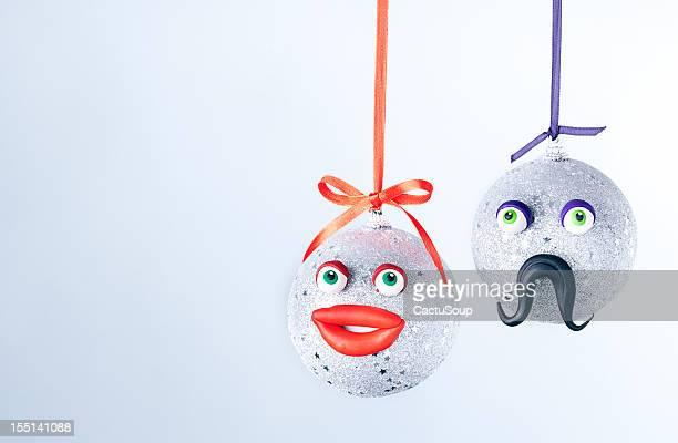 クリスマスボールのポートレート。