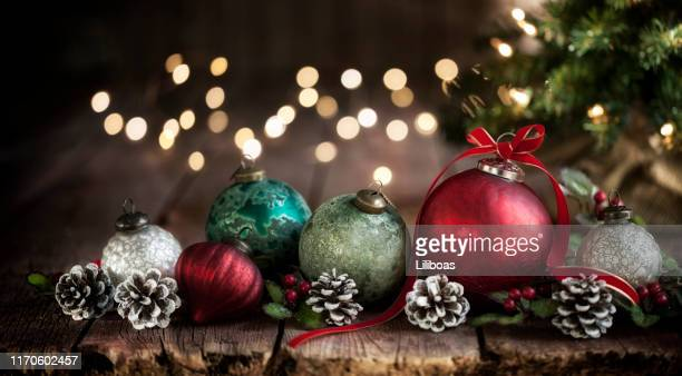 christmas baubles background - december stock pictures, royalty-free photos & images