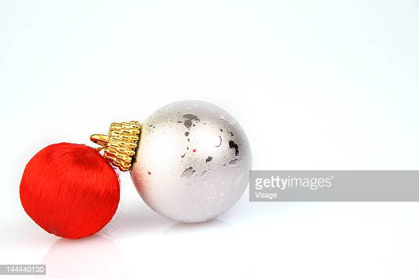 Christmas baubles, close-up