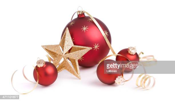 Christmas Baubles & Gold Ribbons (XXL)