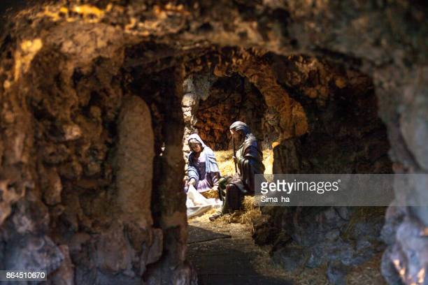 christmas belen in vitoria-gasteiz, spain - nativity stock photos and pictures